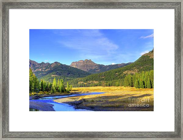 Yellowstone National Park Landscape Framed Print
