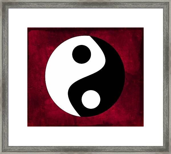 Yin And Yang Framed Print