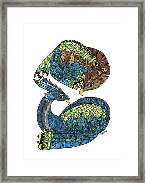 Yin Yang Dragons Framed Print