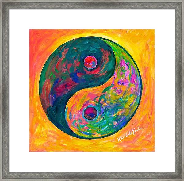 Yin Yang Flow Framed Print