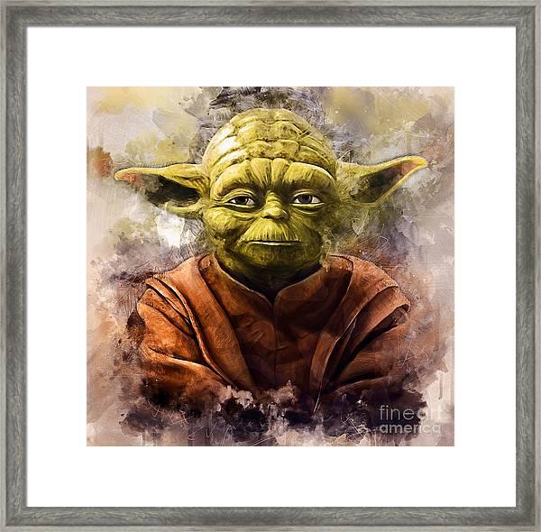 Yoda Art Framed Print