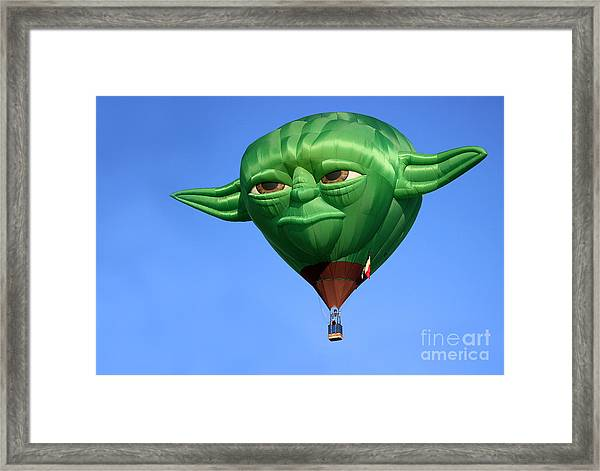 Yoda In The Sky Framed Print