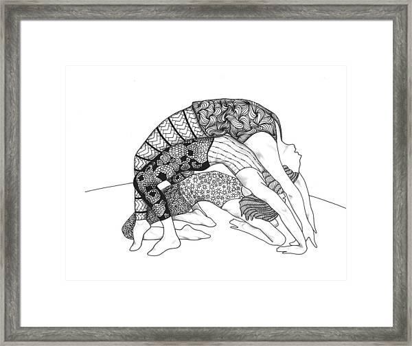 Yoga Sandwich Framed Print