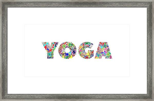 Yoga Word Art Framed Print