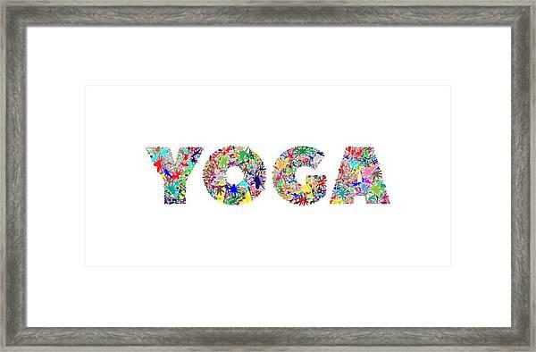 Yoga Word Art Framed Print