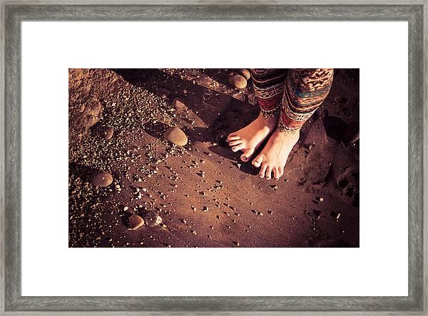 Yogis Toesies Framed Print