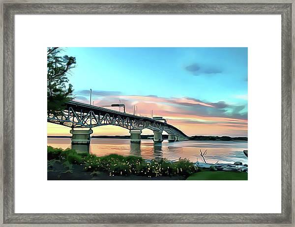 York River Bridge Framed Print