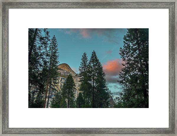 Yosemite Campside Evening Framed Print