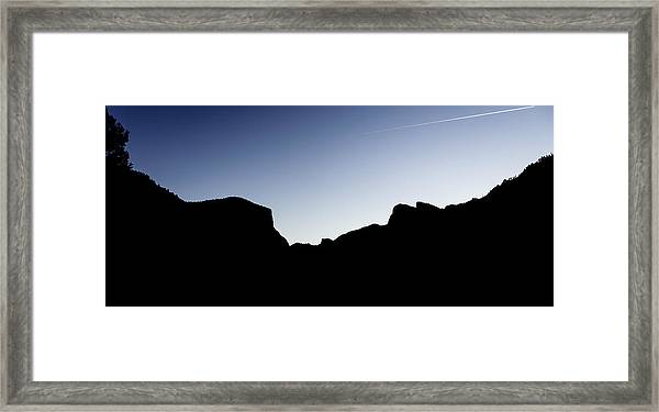 Yosemite In Silhouette Framed Print