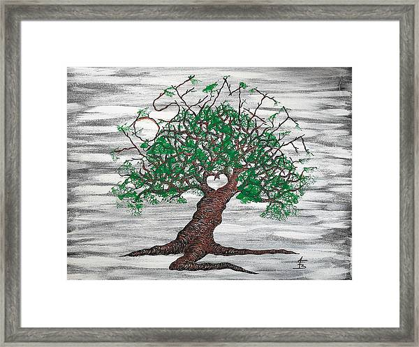 Framed Print featuring the drawing Yosemite Love Tree by Aaron Bombalicki