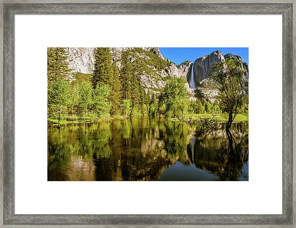 Yosemite Reflections On The Merced River Framed Print