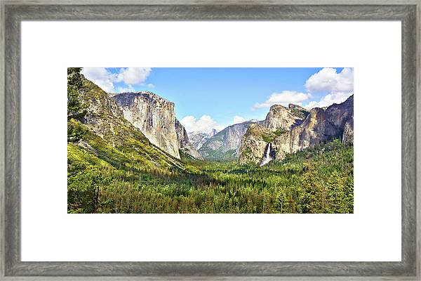 Yosemite Tunnel View Afternoon Framed Print