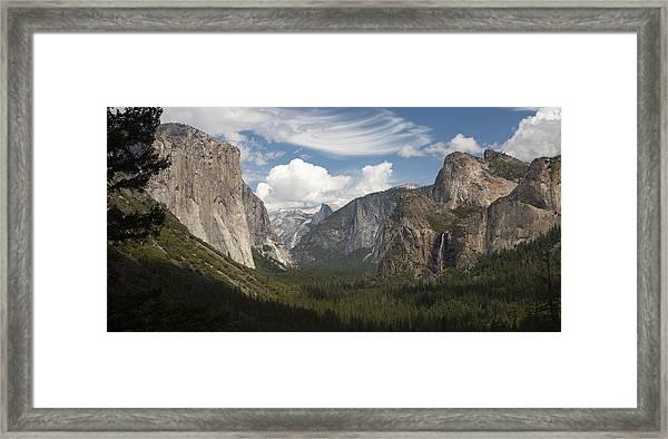 Yosemite Valley - Tunnel View Framed Print