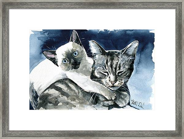 You Are Mine - Cat Painting Framed Print
