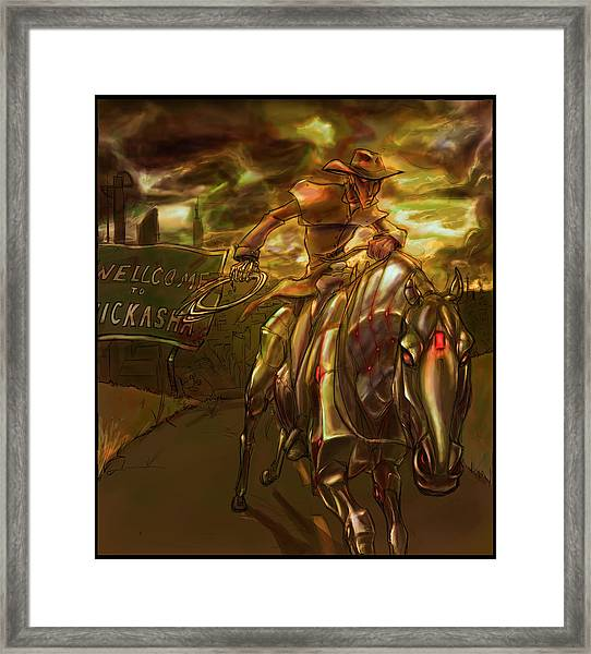 You Are Now Leaving City Limits Framed Print by Jamie Lindenmeier