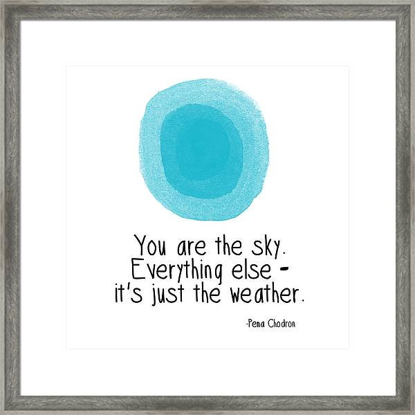 You Are The Sky Framed Print