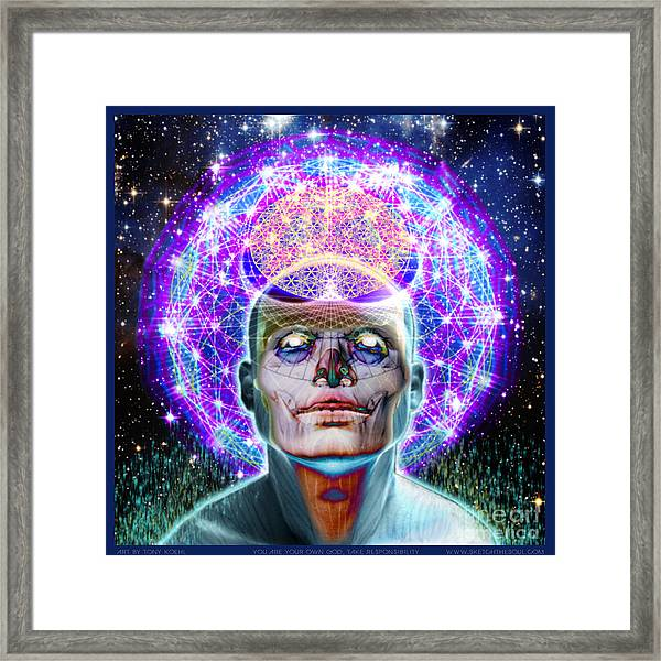 You Are Your Own God Take Responsablility Framed Print