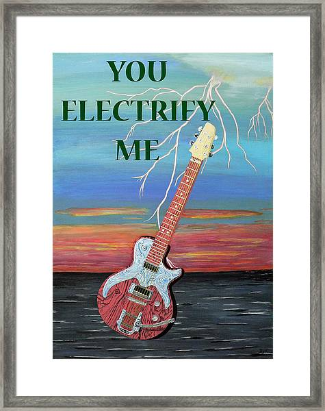 Framed Print featuring the painting You Electrify Me by Eric Kempson