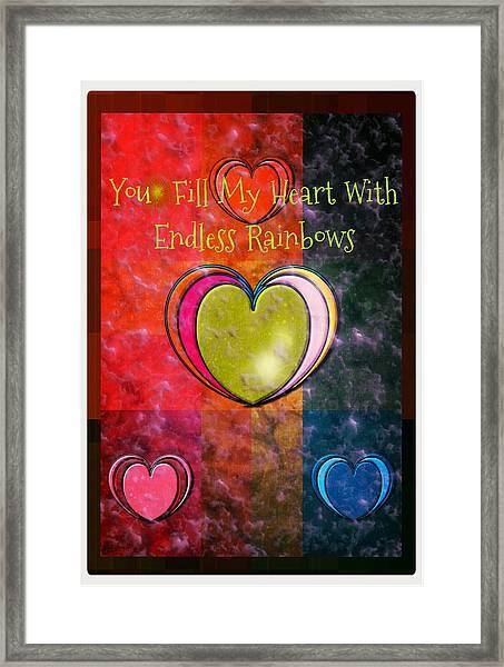 You Fill My Heart Framed Print