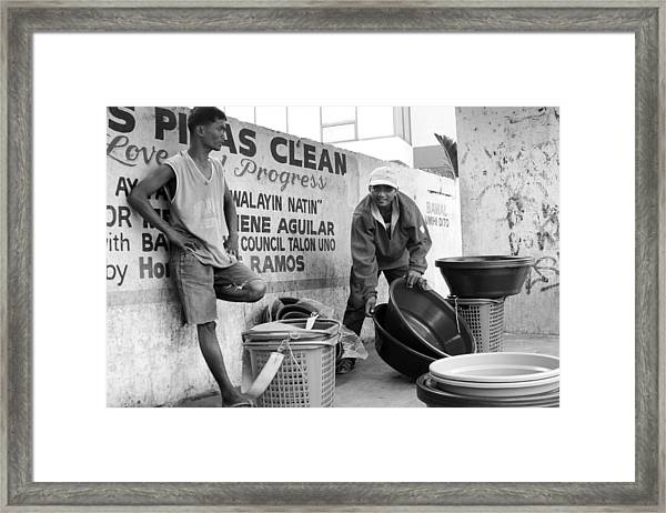 You Just Stand There Framed Print by Jez C Self