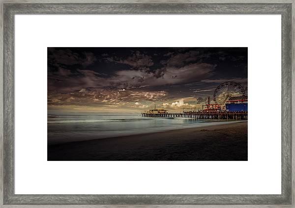 Enchanted Pier Framed Print