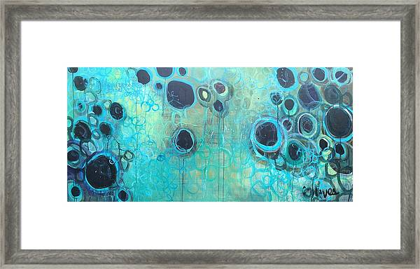 Framed Print featuring the painting You Said You Wanted To Live By The Ocean by Laurie Maves ART