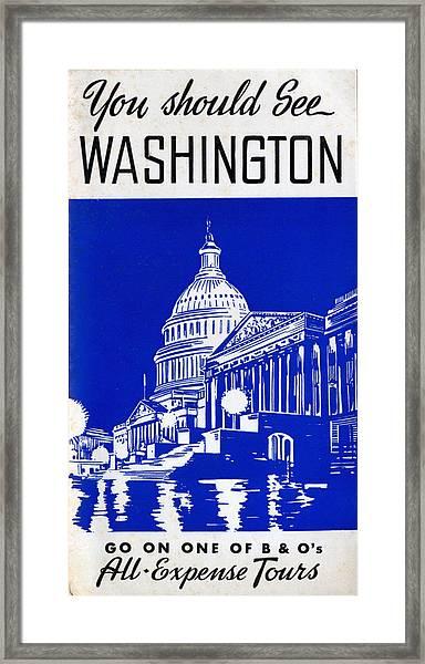 You Should See Washington Framed Print
