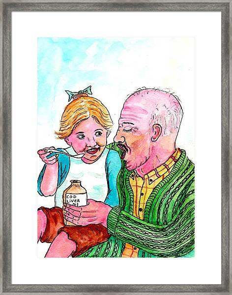 You Take It First Grandpa Okay Framed Print