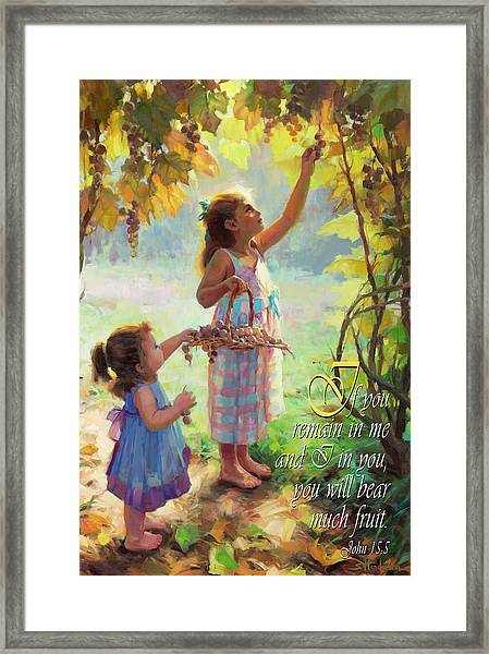 You Will Bear Much Fruit Framed Print