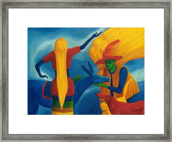You Will Move On Your Way. Framed Print