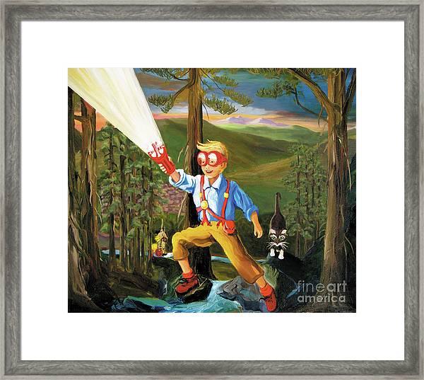 Young Explorer Framed Print