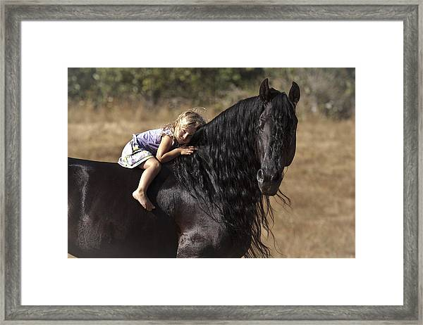 Young Rider Framed Print