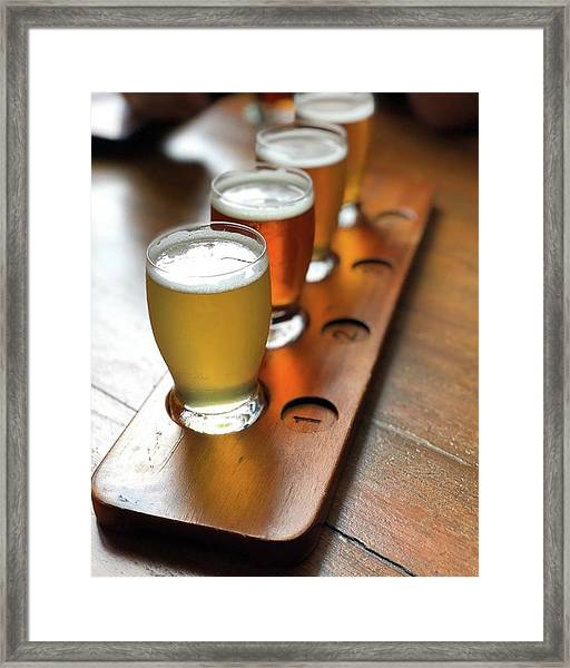 Your Choice Of Four Draft Beers From Framed Print by Arya Swadharma