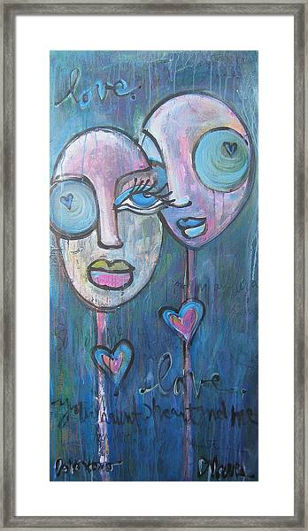 Framed Print featuring the painting Your Haunted Heart And Me by Laurie Maves ART