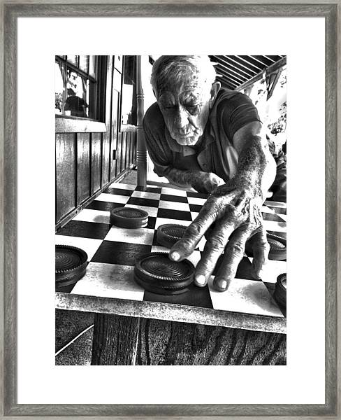 Your Move Dad Bw Art Framed Print