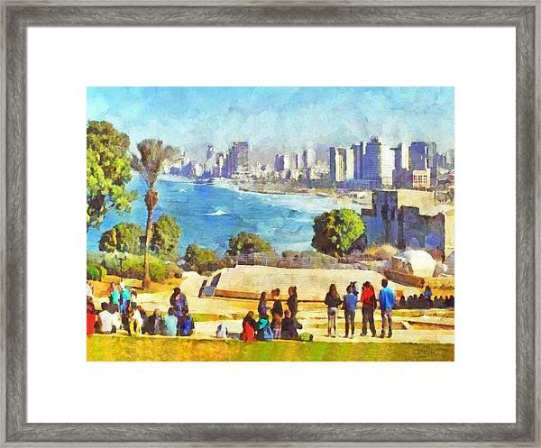 Youth Groups In Tel Aviv Framed Print