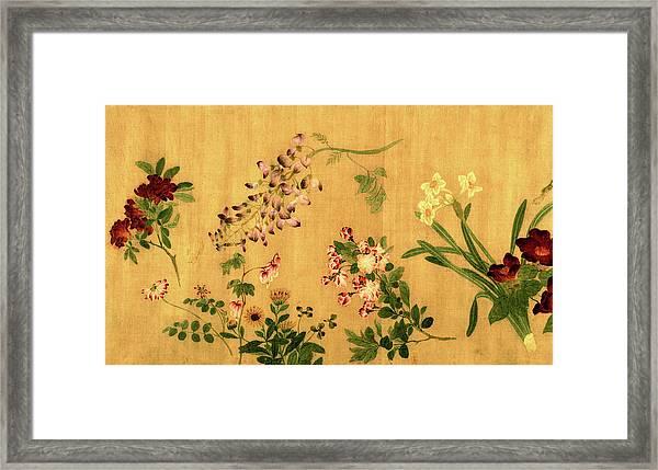 Yuan's Hundred Flowers Framed Print