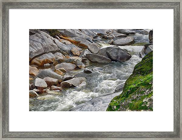 Framed Print featuring the photograph Yuba Is Flowing by William Havle
