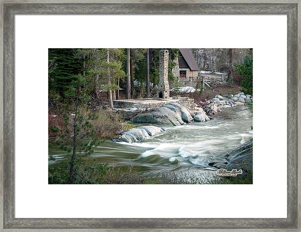 Framed Print featuring the photograph Yuba River At Rainbow Lodge by William Havle