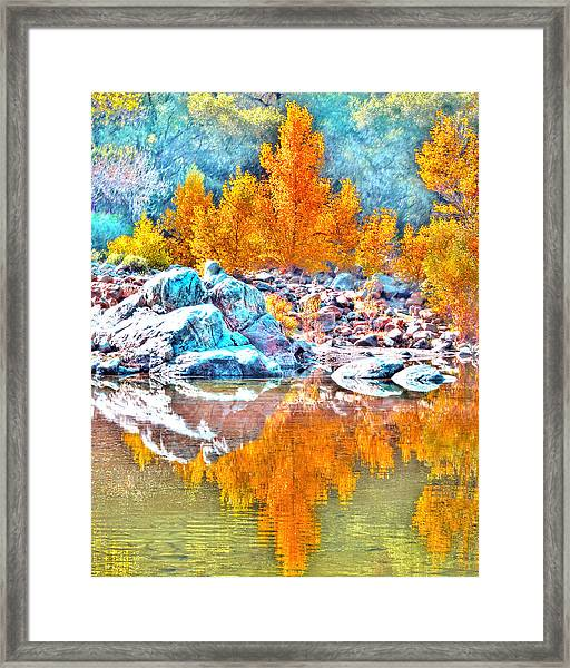 Framed Print featuring the photograph Yuba River Reflection by William Havle