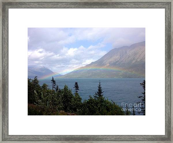Framed Print featuring the photograph Yukon Rainbow by Barbara Von Pagel
