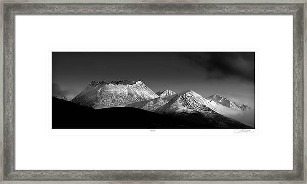 Yukon Volcano Framed Print by Lar Matre
