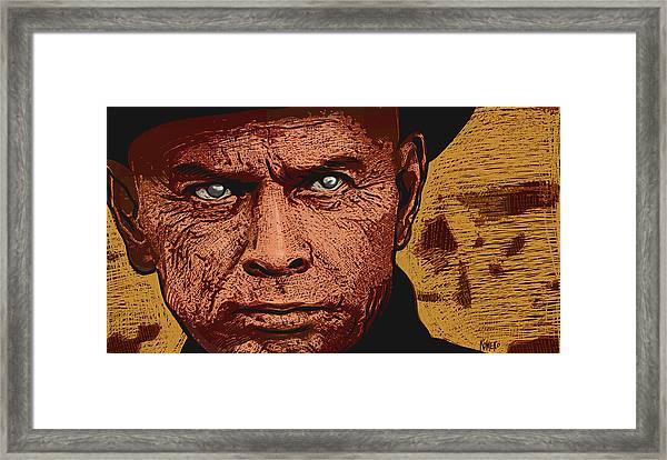 Framed Print featuring the digital art Yul Brynner by Antonio Romero