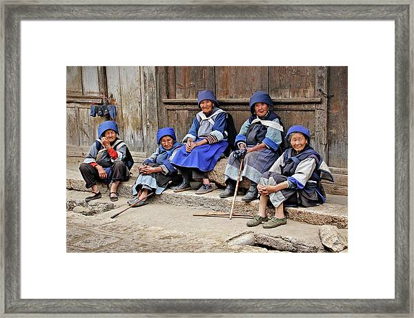 Yunnan Women Framed Print
