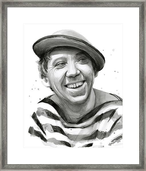Yuriy Nikulin Portrait Framed Print