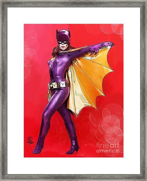Yvonne Craig's Batgirl Framed Print by Joseph Burke