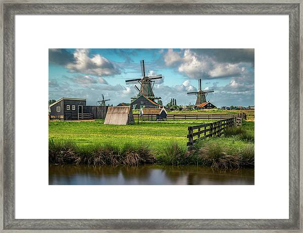 Zaanse Schans And Farm Framed Print
