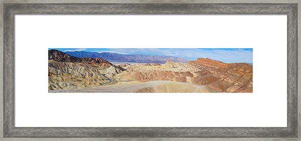 Zabriski Point Panoramic Framed Print