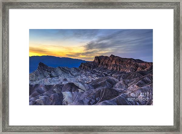 Zabriskie Point Sunset Framed Print