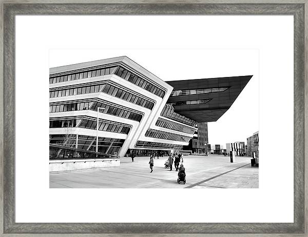 Zaha Hadid Library Center Wu Campus Vienna Framed Print